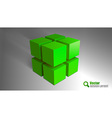 Cube green vector