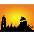 Kiev sophia square silhouette vector