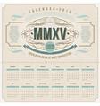 Ornate vintage calendar of 2015 vector
