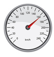 Grey speedometer vector