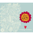 Floral wedding invitation background vector