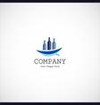 Wine ship company logo vector