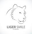 Liger smile design symbol icon vector