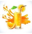 Orange juice ice vector