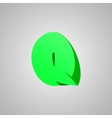 Letter q comic style font eps10 vector