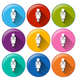 Family planning icons vector