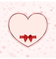 Paper heart with red ribbon and a bow vector