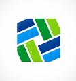 Shape decorative square logo vector