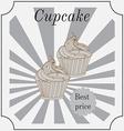 Retro cakes label vector