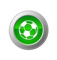 Soccer ball button vector