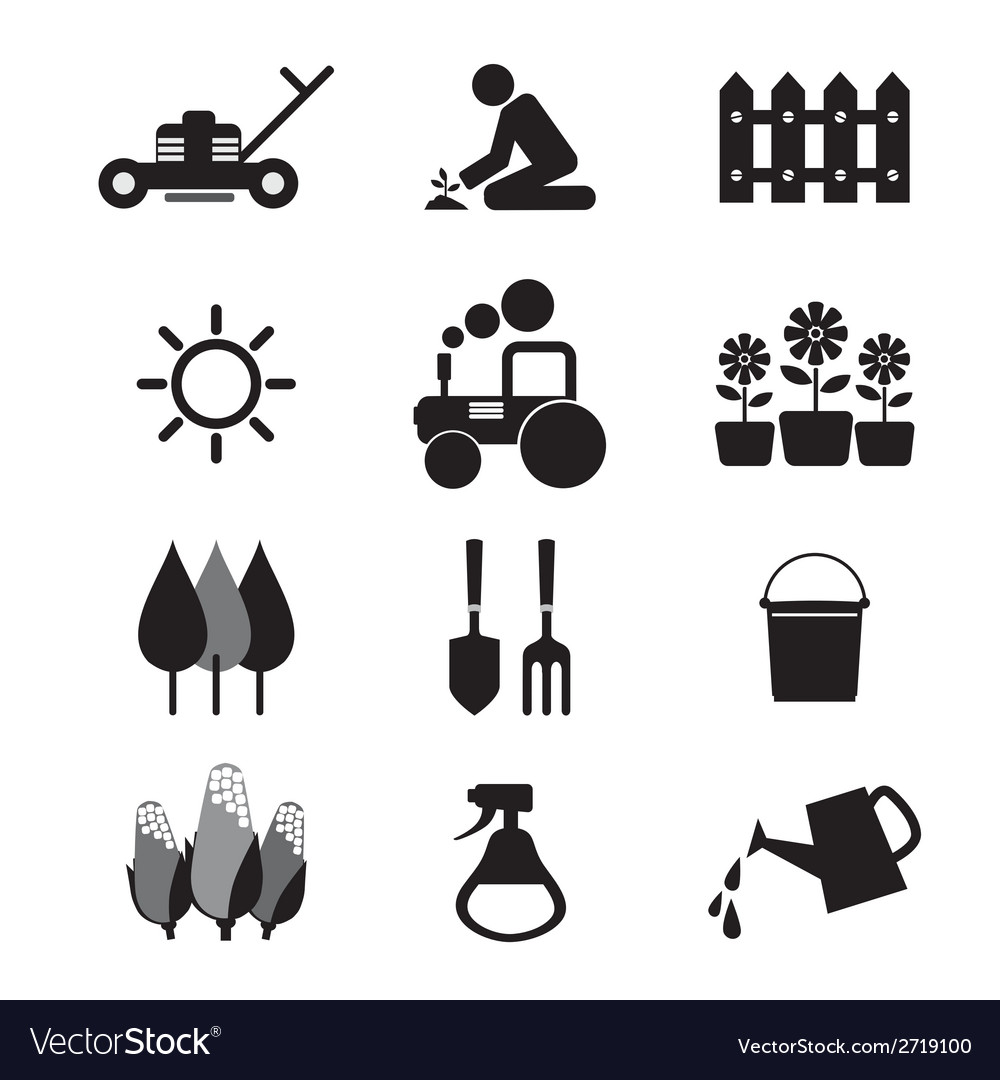 Agricultural equipment icons vector | Price: 1 Credit (USD $1)