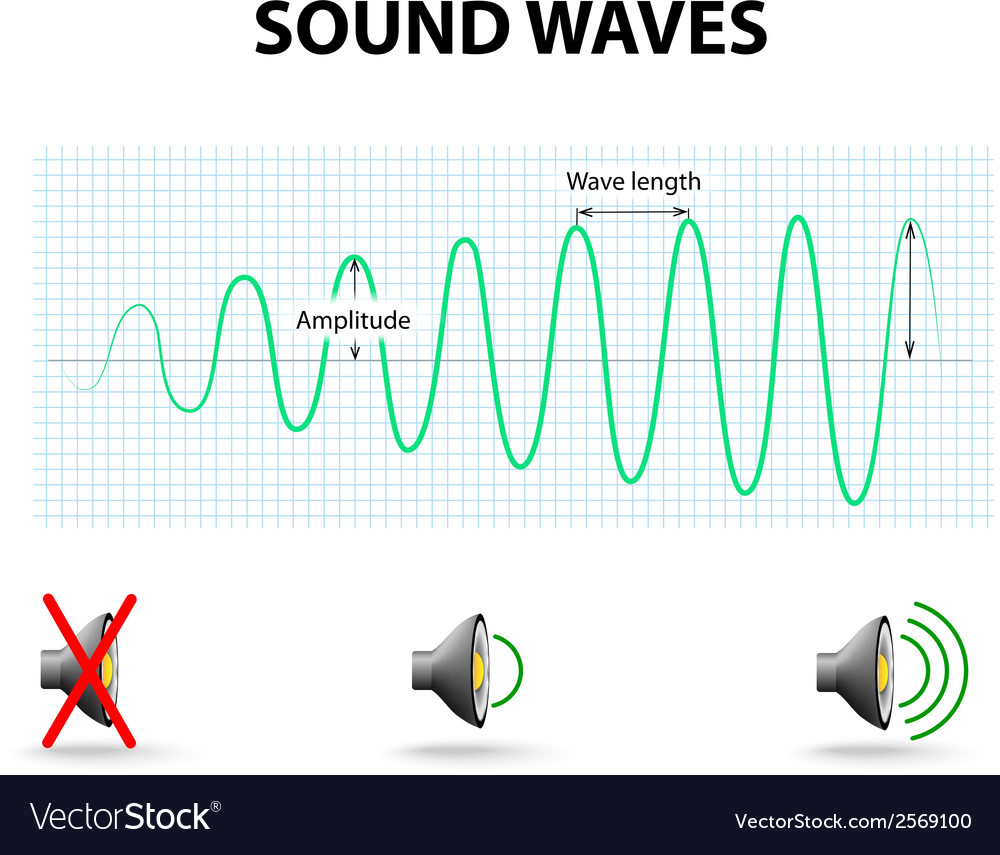 Amplitude of a sound wave vector | Price: 1 Credit (USD $1)