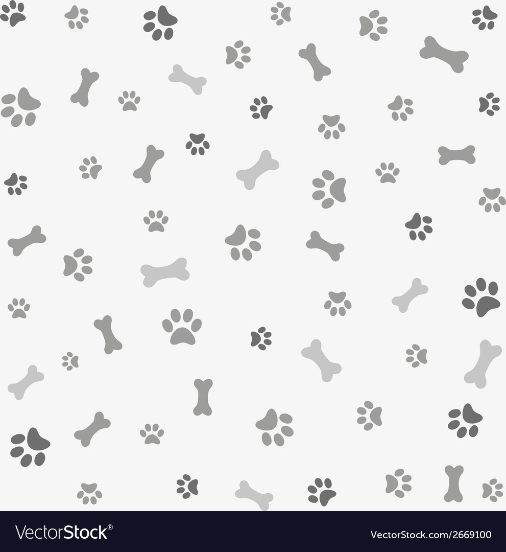 Background with dog paw print and bone vector | Price: 1 Credit (USD $1)