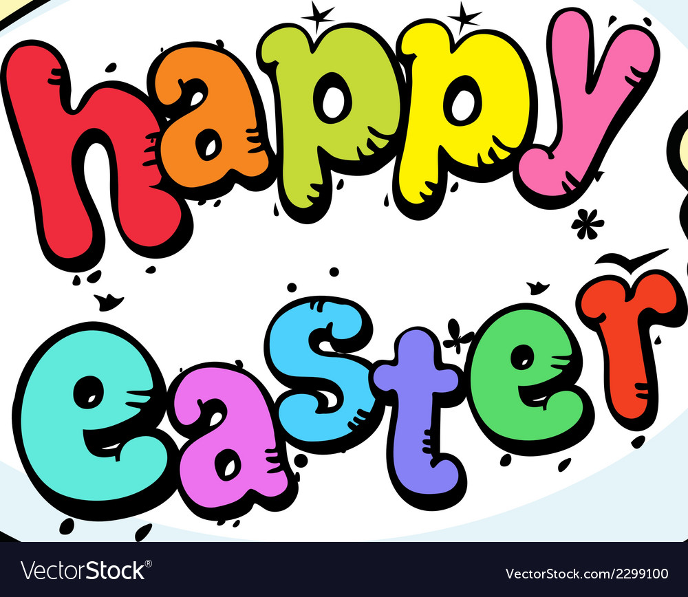 Bunny hold egg and chicken - happy easter vector | Price: 1 Credit (USD $1)