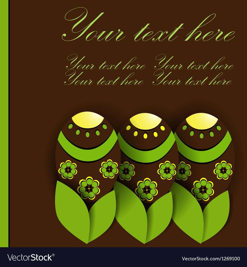 Creative postcard with easter eggs vector | Price: 1 Credit (USD $1)