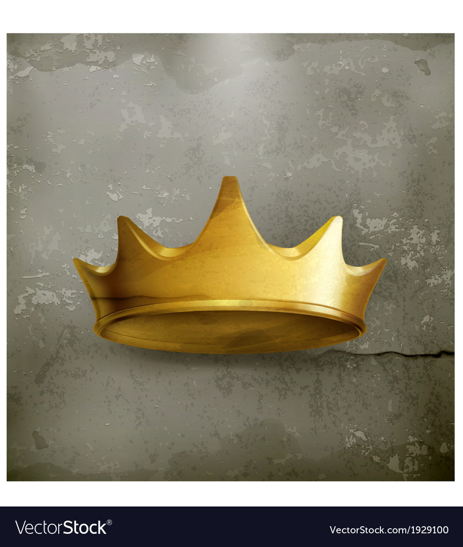 Golden crown old style vector | Price: 1 Credit (USD $1)