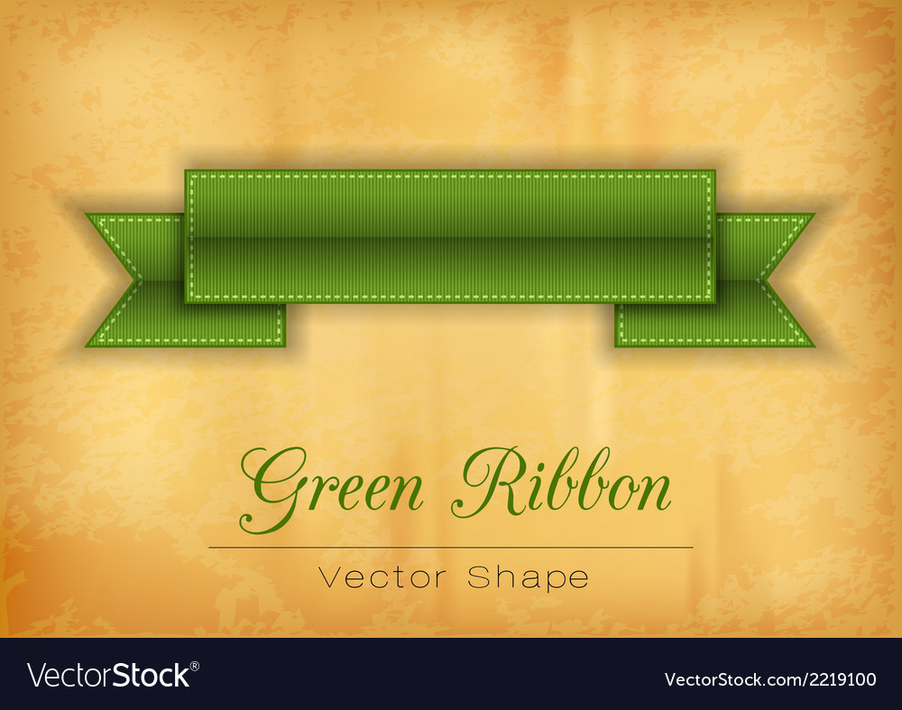 Green ribbon vector | Price: 1 Credit (USD $1)