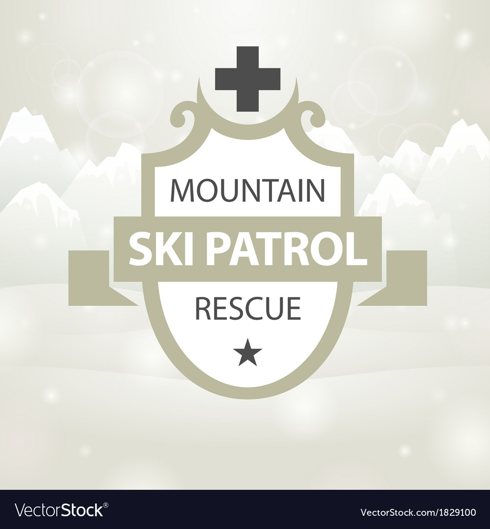 Logotype mountain ski patrol rescue vector | Price: 1 Credit (USD $1)