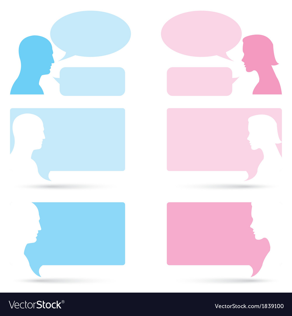 Man and woman bubble talk vector | Price: 1 Credit (USD $1)