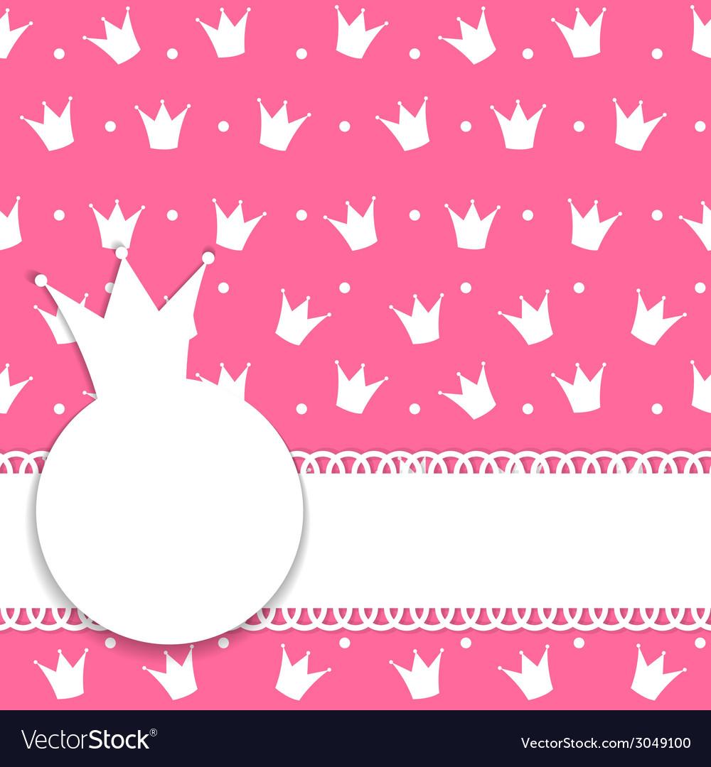 Princess crown background vector | Price: 1 Credit (USD $1)