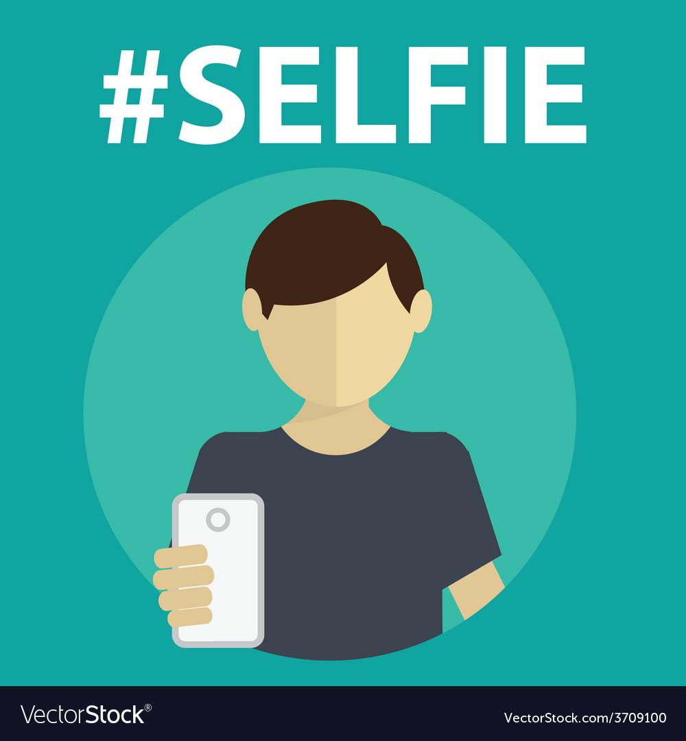 Selfie taking self photo vector | Price: 1 Credit (USD $1)