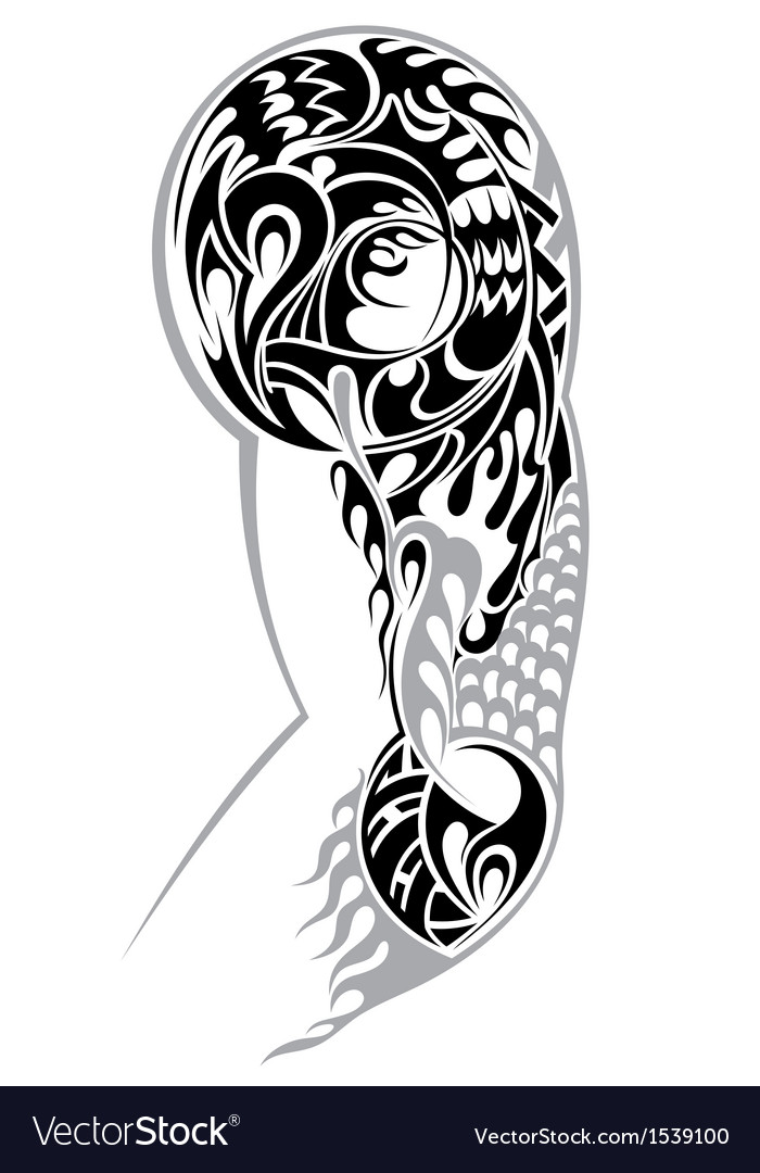 Tribal arm tattoo vector | Price: 1 Credit (USD $1)