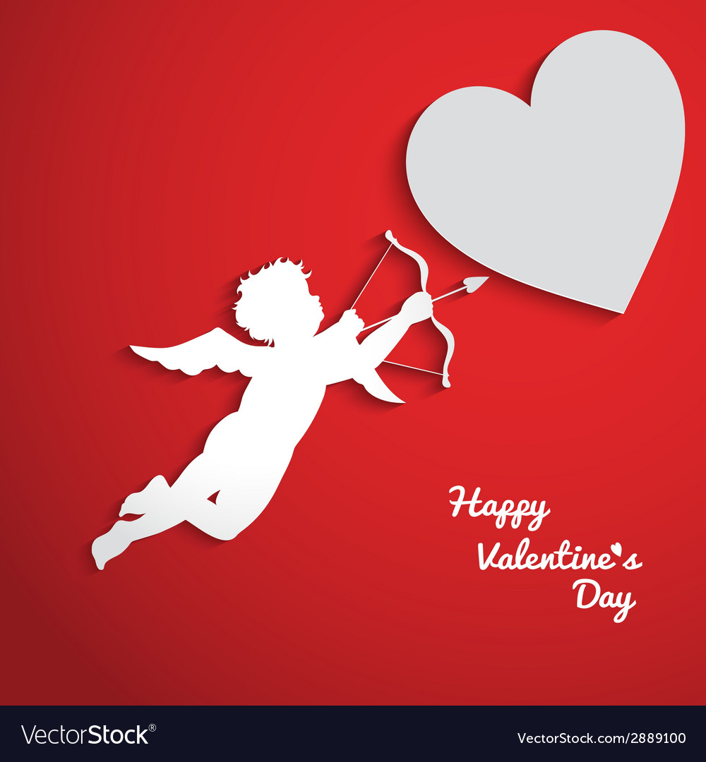 Valentines day background with cupid vector | Price: 1 Credit (USD $1)