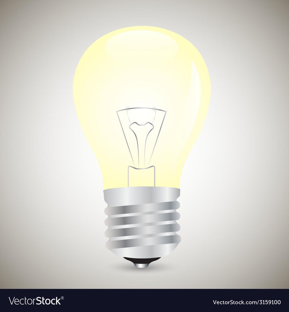 Yellow light bulb vector | Price: 1 Credit (USD $1)