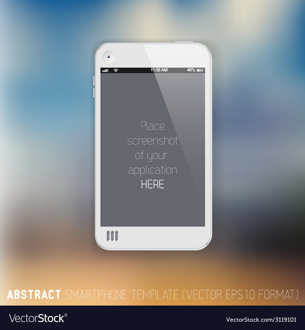 Abstract white mobile phone template vector | Price: 1 Credit (USD $1)