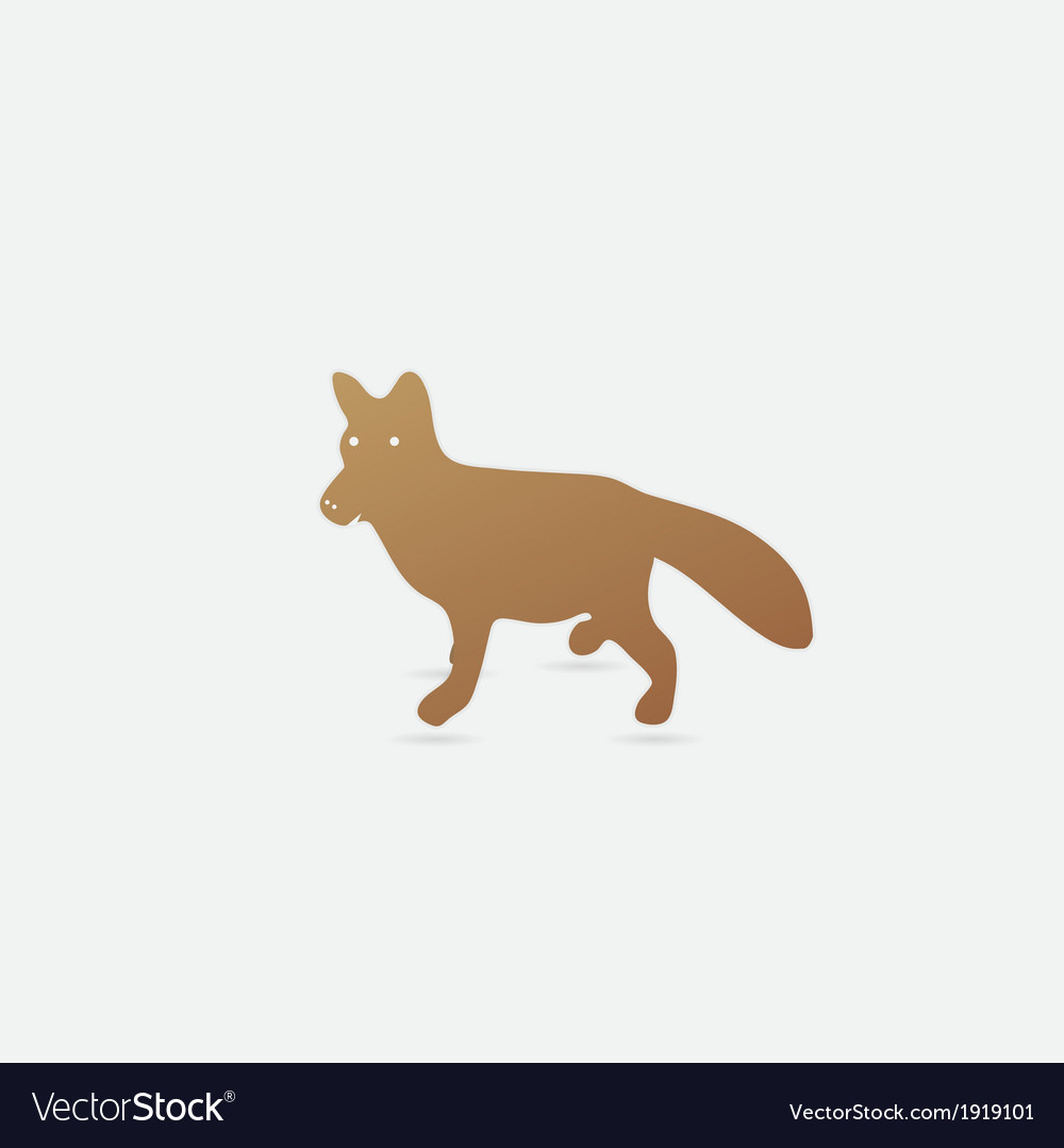 Cute fox vector | Price: 1 Credit (USD $1)