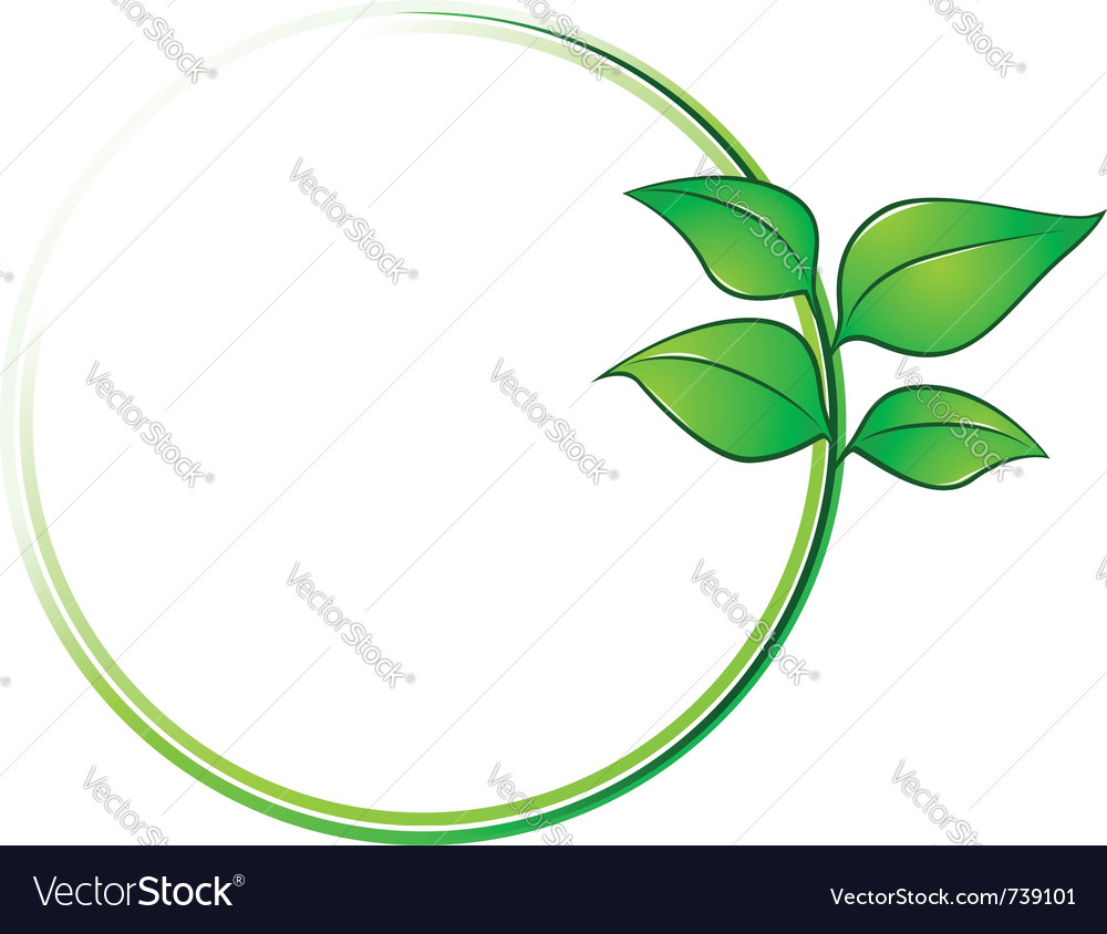 Leaves environment frame vector | Price: 1 Credit (USD $1)