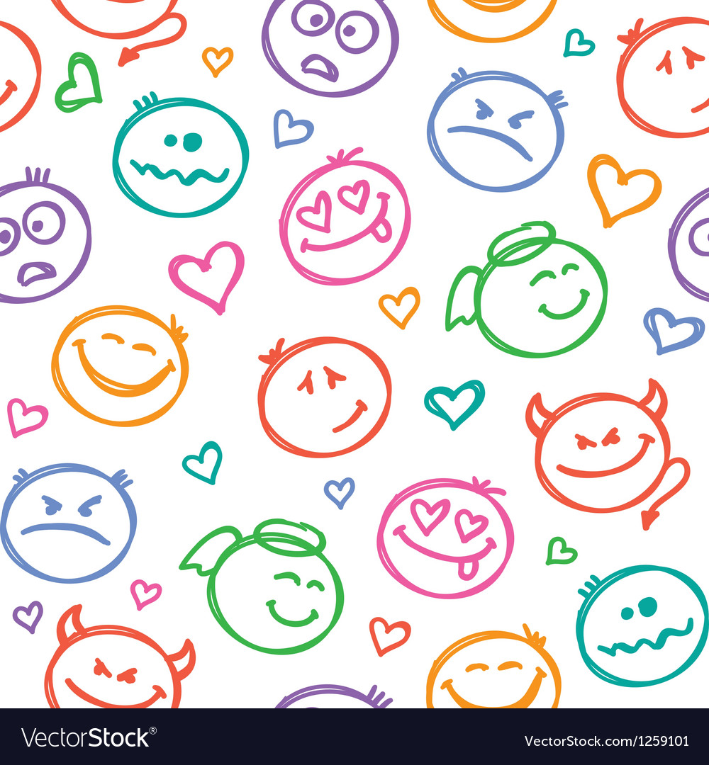 Pattern of smiles vector   Price: 1 Credit (USD $1)