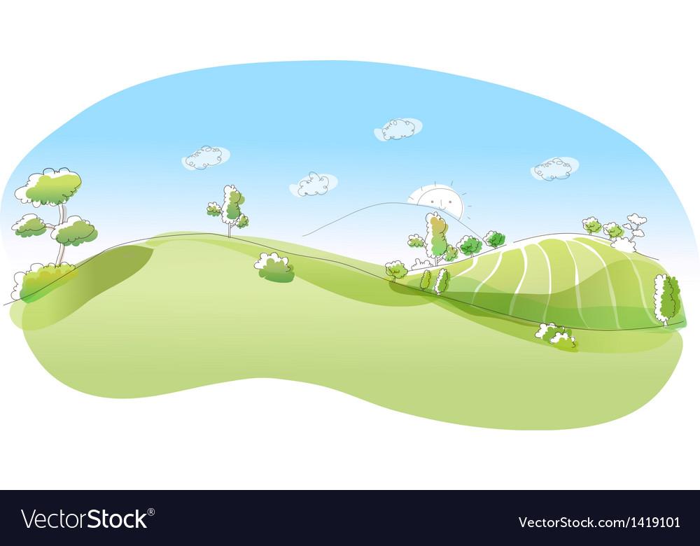 Rolling landscape vector | Price: 1 Credit (USD $1)