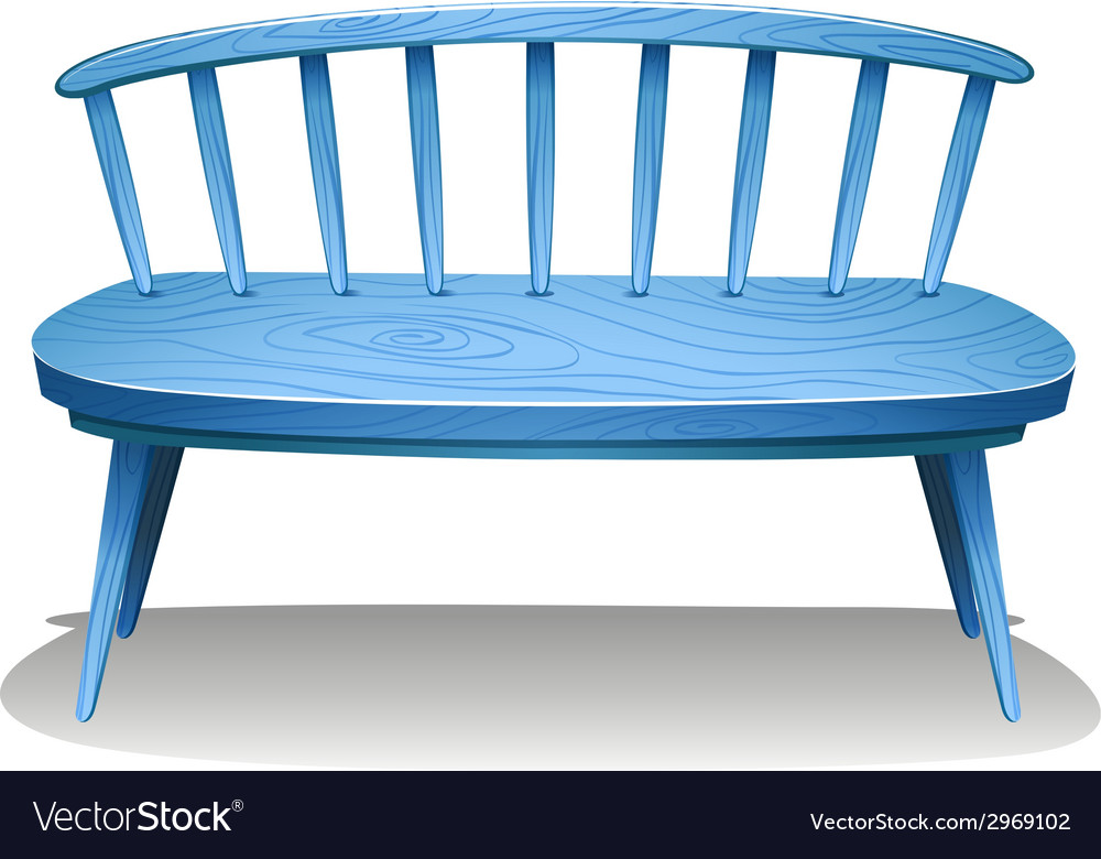 A blue wooden bench vector | Price: 1 Credit (USD $1)