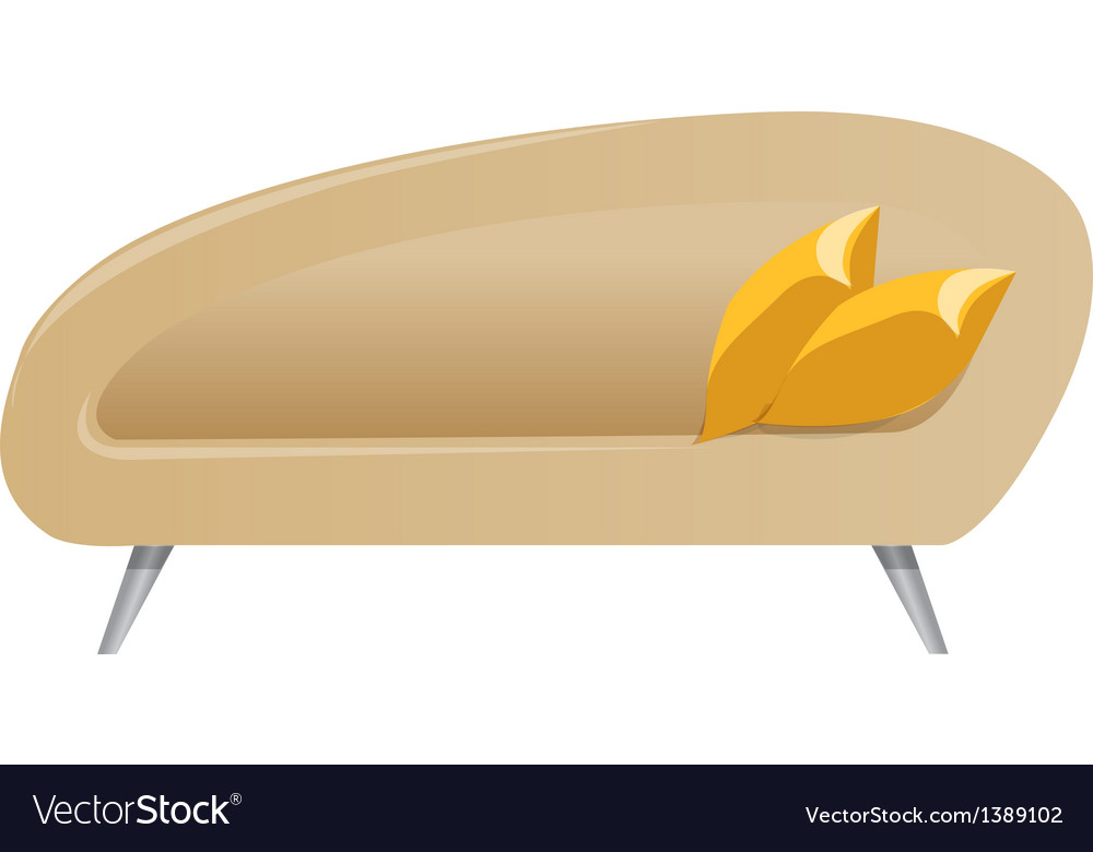 A view of a couch vector | Price: 1 Credit (USD $1)
