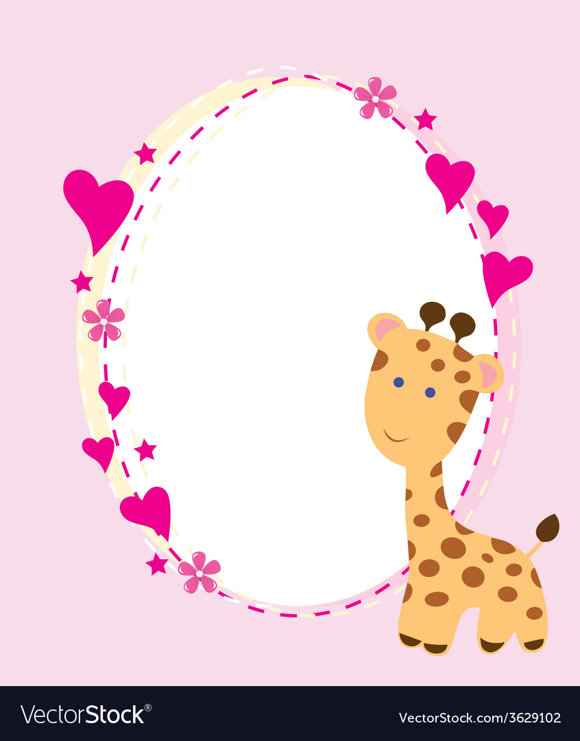 Baby giraffe vector   Price: 1 Credit (USD $1)