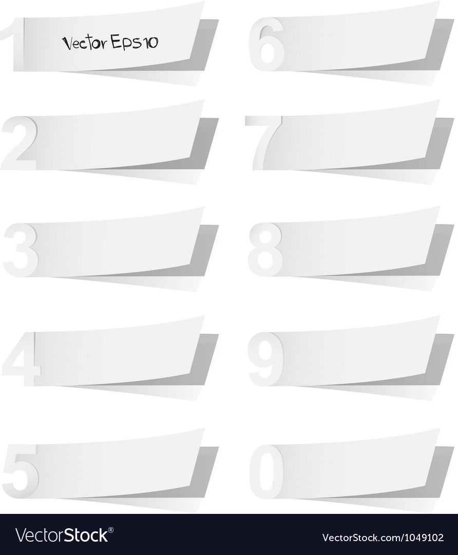 Blank white advertising coupon cut from alphabet vector | Price: 1 Credit (USD $1)