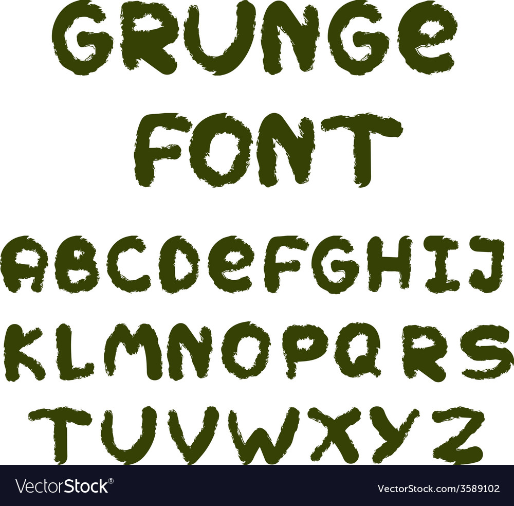 English alphabet in grunge style vector | Price: 1 Credit (USD $1)