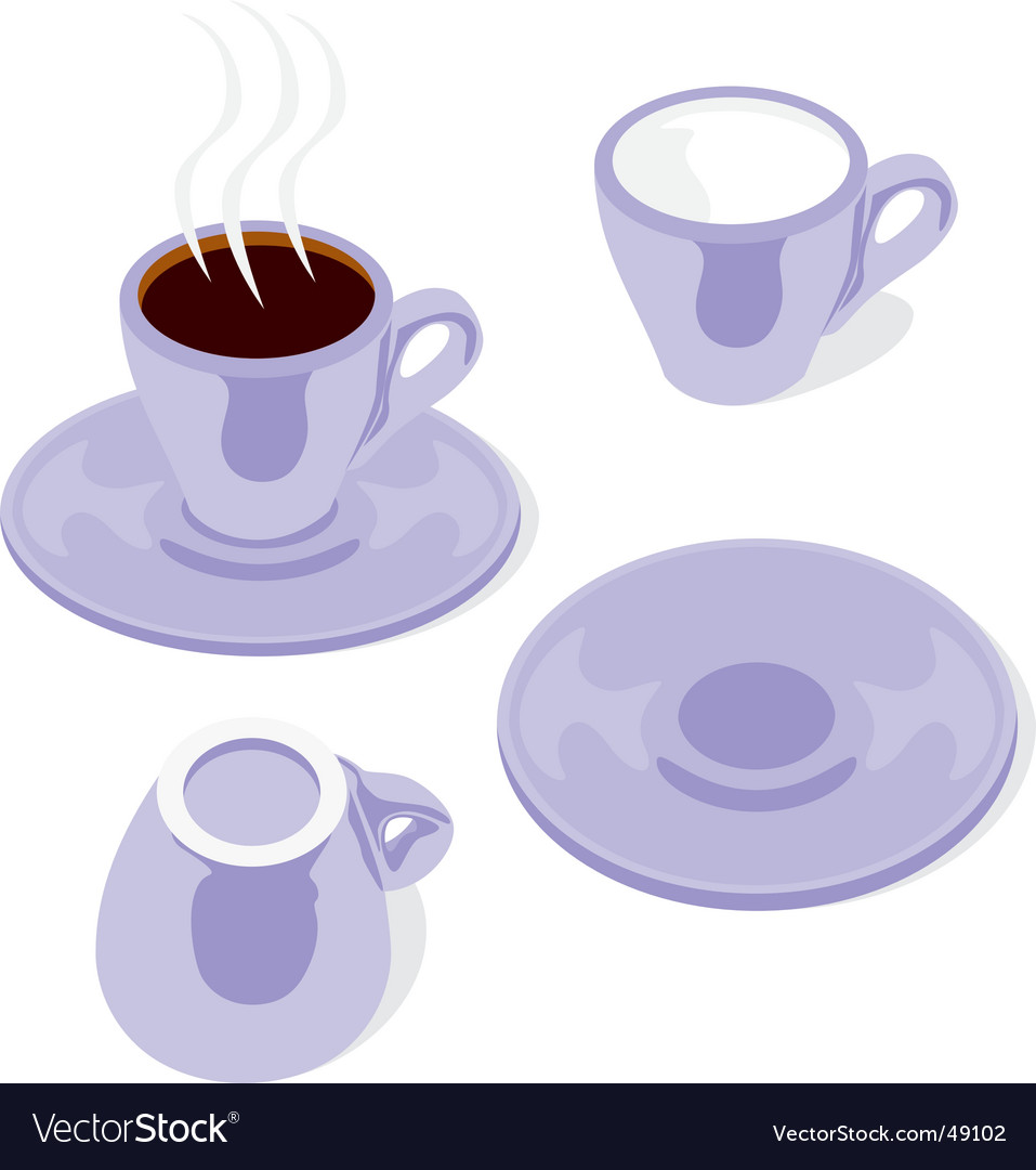 Espresso cups vector | Price: 1 Credit (USD $1)