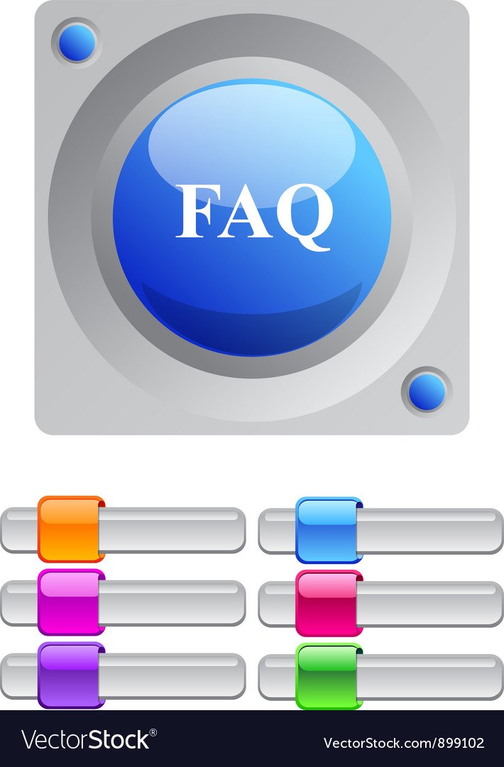 Faq color round button vector | Price: 1 Credit (USD $1)