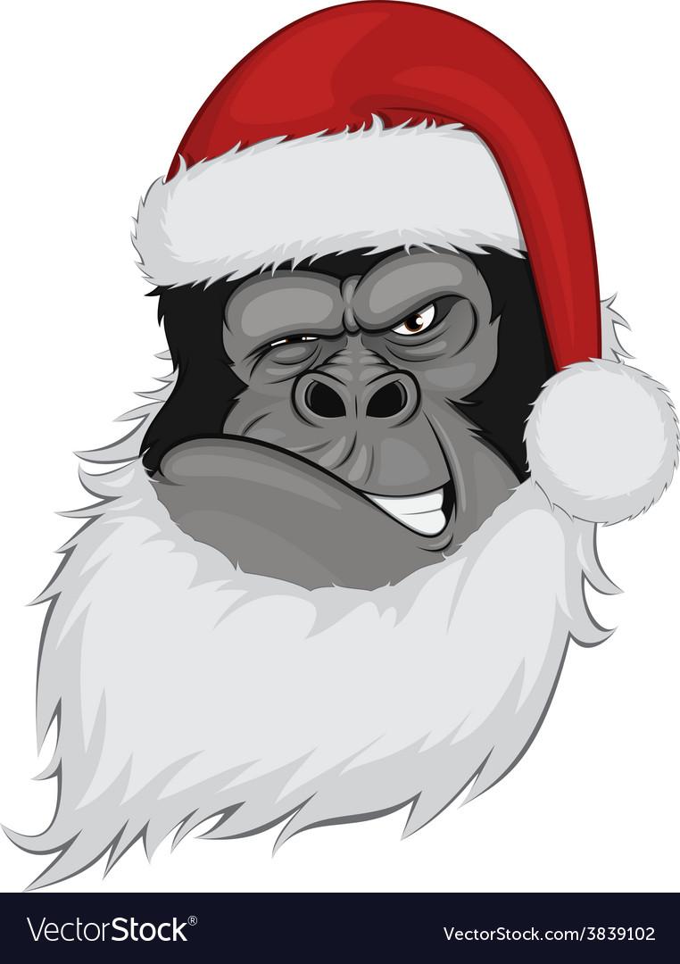 Head gorilla in a cap vector | Price: 3 Credit (USD $3)