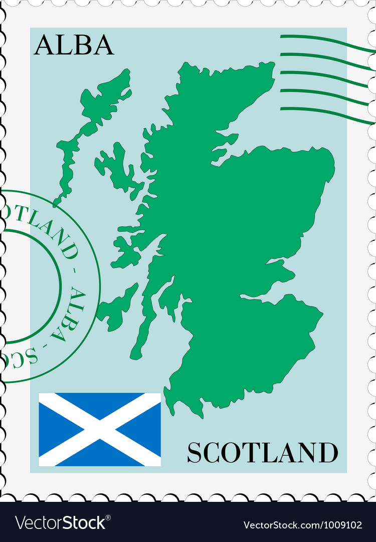 Mail to-from scotland vector | Price: 1 Credit (USD $1)