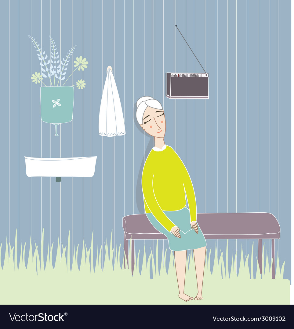 Old woman vector | Price: 1 Credit (USD $1)