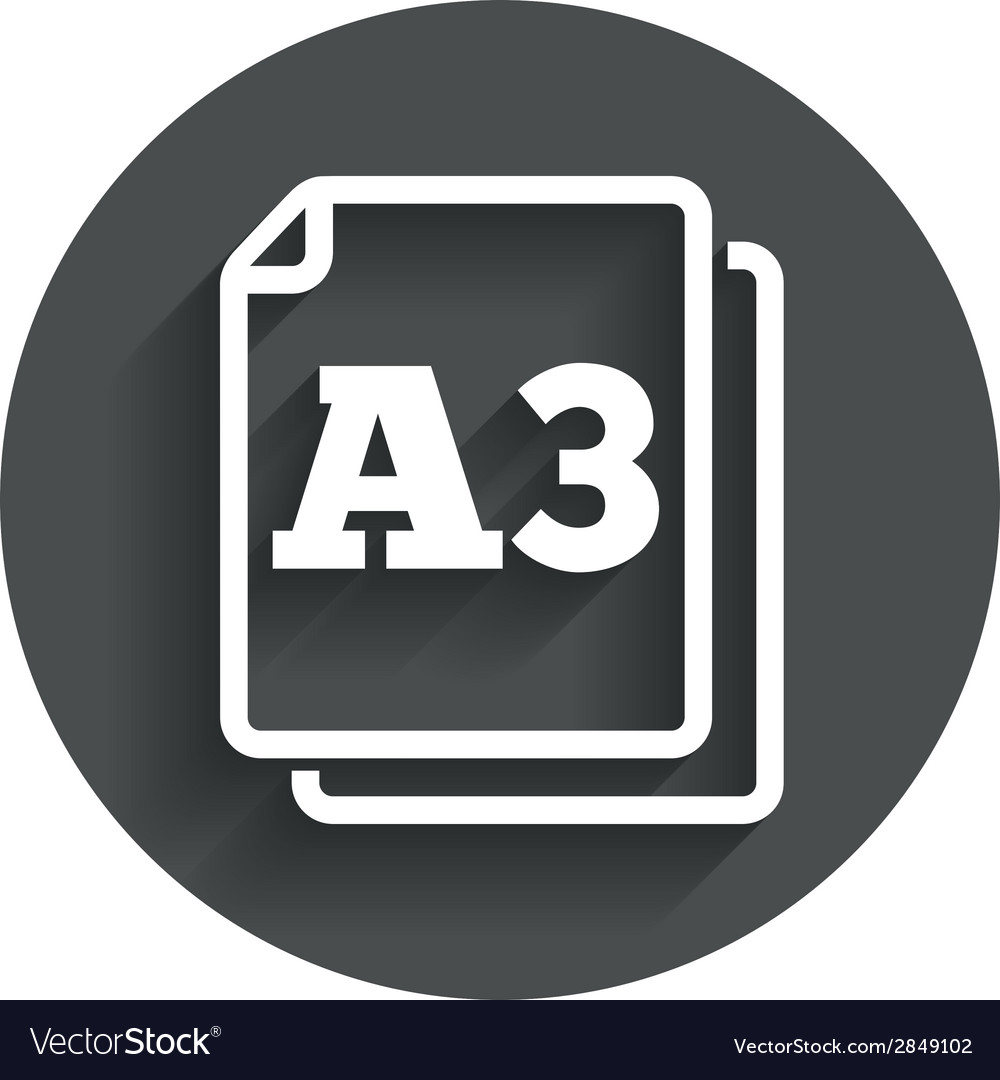 Paper size a3 standard icon document symbol vector | Price: 1 Credit (USD $1)