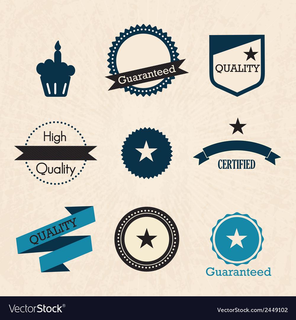 Retro labels vector | Price: 1 Credit (USD $1)