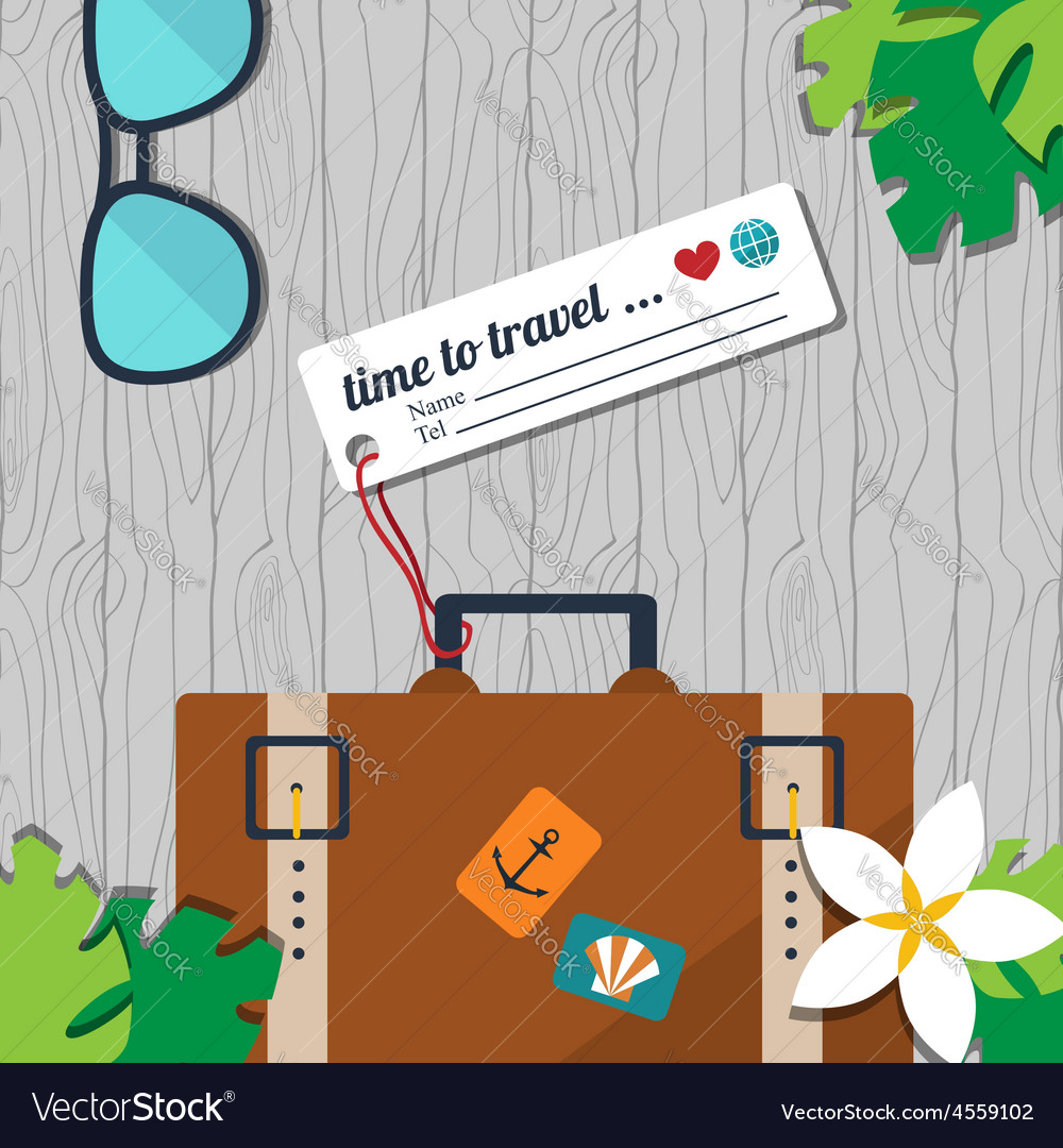 Time to travel card vector | Price: 1 Credit (USD $1)