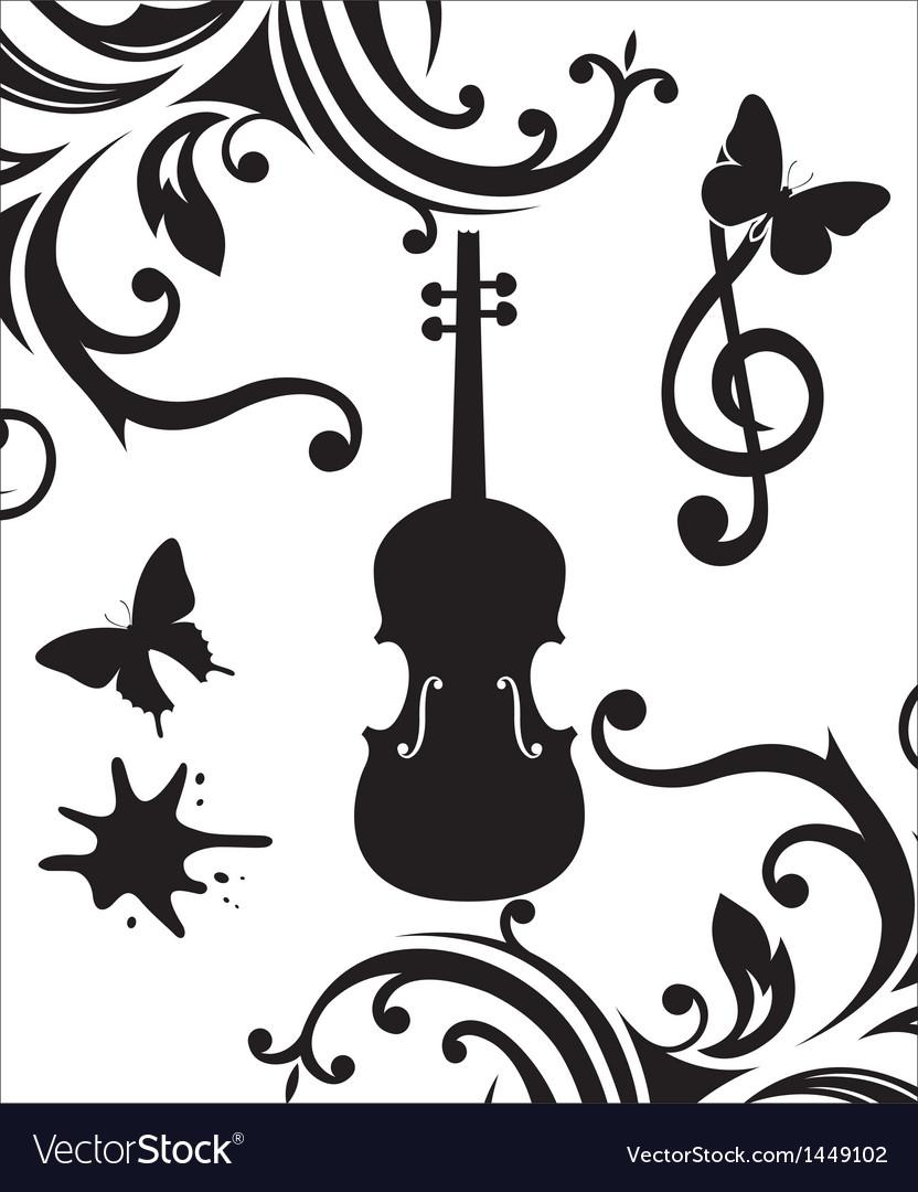 Violin vector | Price: 1 Credit (USD $1)