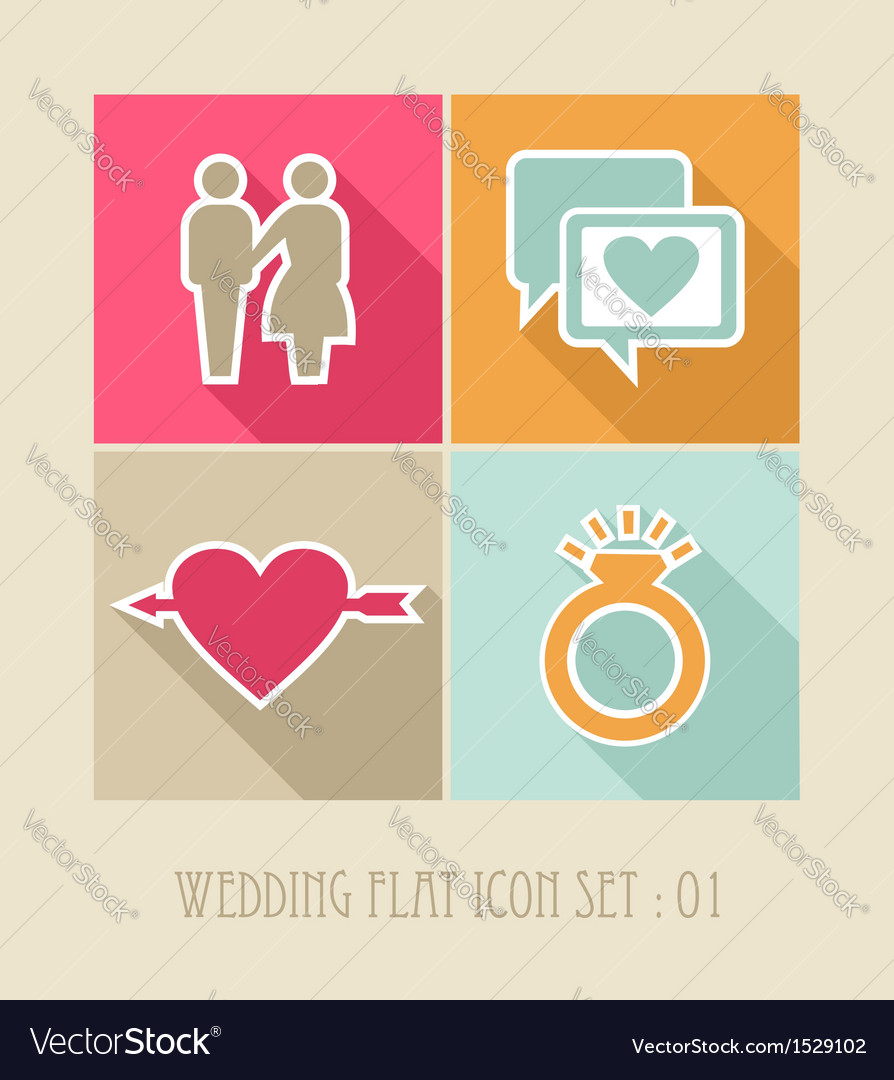 Wedding flat icon set vector   Price: 1 Credit (USD $1)