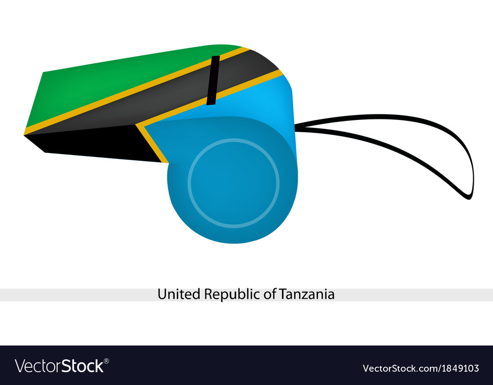 A whistle of united republic of tanzania vector | Price: 1 Credit (USD $1)