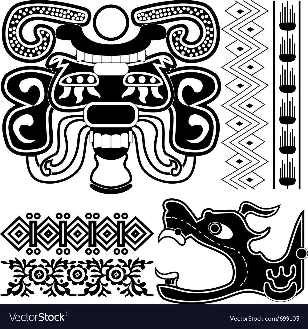 Ancient american patterns vector | Price: 1 Credit (USD $1)